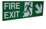 fire exit emergency escape poster