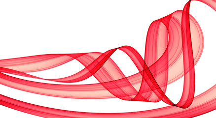 red festive abstraction over white - hq render
