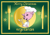 vegan / vegetarian series - christmas clipart poster