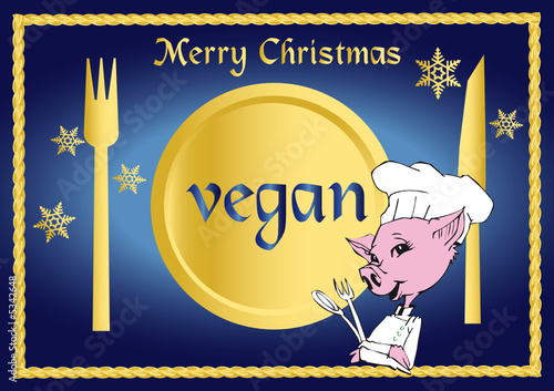 vegan / vegetarian series - christmas clipart