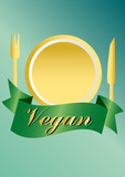 vegan / vegetarian series -  clipart poster