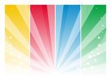 Fototapety Sfondo colori, raggi e stelle