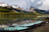 Pristine Maligne lake in Jasper national park, Rocky Mountains poster