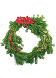 Evergreen Christmas Wreath poster