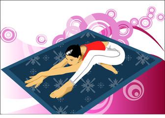 doing yoga execise