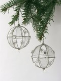 silvery balls on Christmas tree poster