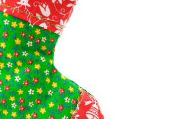 Christmas stocking frame on white background