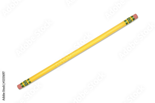 Yellow pencil with both ends being erasers