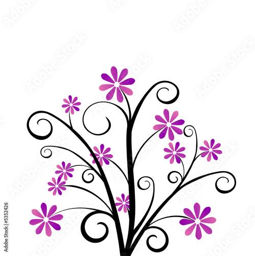 Fleur Violette Dessin Idee D Image De Fleur
