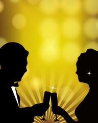 Romantic New Year Toast