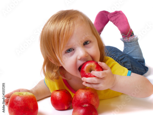 girl with apple.