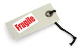 fragile tag against white background poster