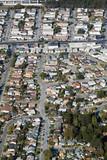 Aerial view of residential urban sprawl