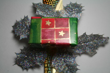 Giftwrapped box for Christmas