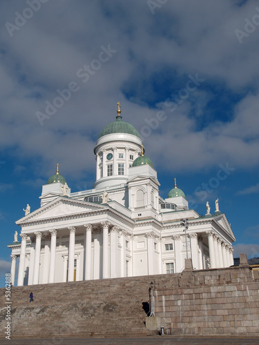 Cathedral at Senate Square in Helsinki, view