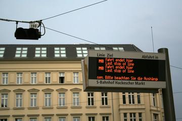 Straßenbahnhaltestelle Berlin