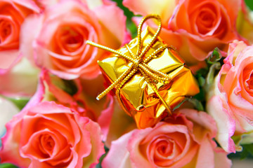 Expensive gift and roses