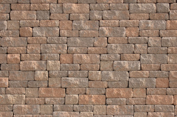 Wide view of a brick wall