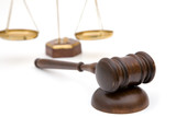 legal concept with a gavel and scales of justice poster