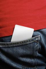 Blank card in back pocket - insert your own design