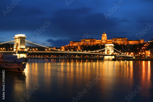 Poster Budapest by night