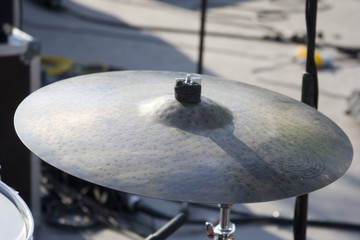 Musique et percussion : cymbale ride