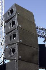 Sonorisation de spectacle, console de mixage