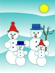 Snowman family