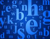 Fototapety Alphabet letters.