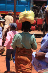 Typical Market day in camp Robin Madagscar