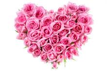 """Постер, картина, фотообои """"Rose In Love Shape"""""""