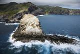 Rocky Hawaiian coast. poster