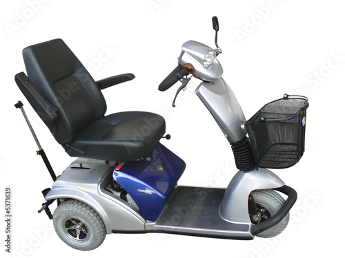 Leinwandbild Motiv mobility scooter