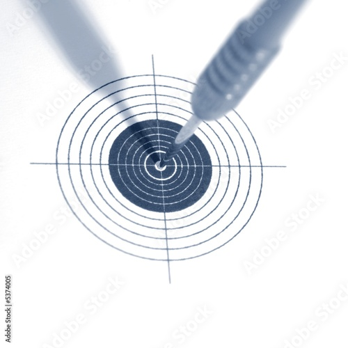 target symbol of success strategy or adversity