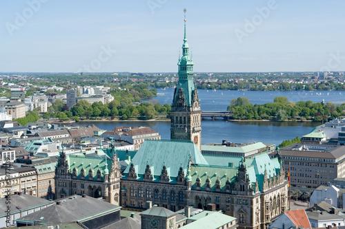 Leinwanddruck Bild Rathaus Hamburg