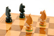 Two pairs of horses on chess board