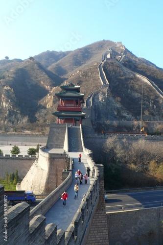 Fotobehang Chinese Muur Great Wall view