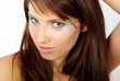 beautiful face  with artistic make-up