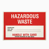 Hazardous waste sign. poster