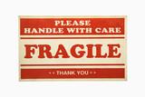 Fragile sign. poster