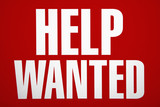 Help wanted sign. poster