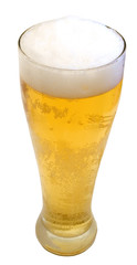 a frosty tall beer