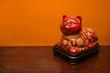 Chinese cat statue.