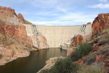 Rosevelt Dam at the Apache Trails in Arizona poster