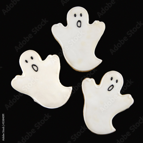 Ghost sugar cookies.