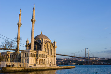Ortakoy Mosque and The Bridge in Istanbul