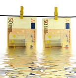 money laundry with water reflection effect
