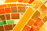 Interesting mosaic detail - decorative and colorful tiles. poster