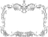 Royal Ornate Calligraphy Frame poster