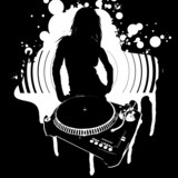 Girl Silhouette, Turntable
